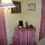 Bedroom in one of the cottages