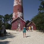 Me in front of the Assateague Light House