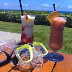 Drinks before snorkeling