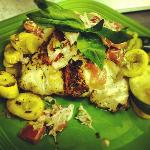 Blackened Grouper with an Heirloom Tomato and Lump Crabmeat Salas
