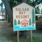 the sign at the lake