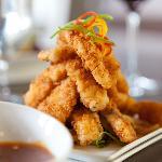 Signature Calamari Fries with Mango BBQ Sauce