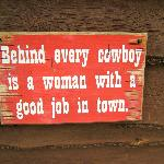 sign by corral