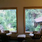 Syringa Suite bedroom/ glider chairs.