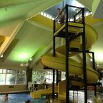 slide in pool area - very fast!