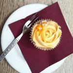 orange cupcake at Kilmartin House Museum Café