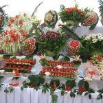 buffet lors de la soirée turc