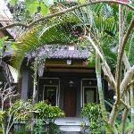 Les chambres sont nichées dans un jardin tropical très bien entretenu