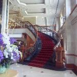 Hotel entrance hall.
