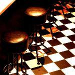 Harlequin tiled floor