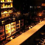 A fully stocked back bar