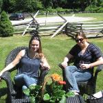 My friend and I enjoying a beautiful day at Sharpe Hill!