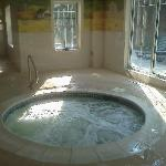 Jacuzzi in indoor pool area