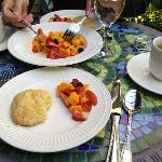 Amazing scones and fresh fruit