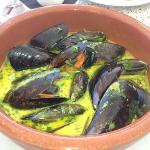 mussels in curry