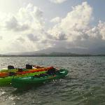Ocean kayaks at Monkey Island