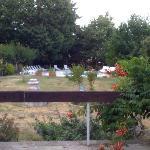 Vista sulla piscina dal ristorante