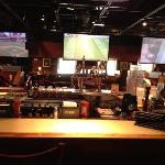 bar and big screens