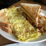 Cornbeef Hash omelette