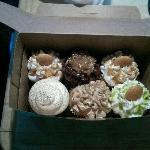Banana pudding, german chocolate, red velvet, apple cobbler, and key lime