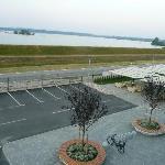 Hotel Panorama ausblick vom Zimmer auf See und Terasse