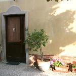 Door to room in courtyard