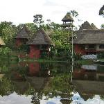 View of cabanas from the canoe