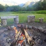 After-dinner bonfire