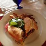 skirt steak sandwich with sweet potato fries