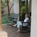 Back porch of our villa