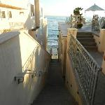 Stairs down to the ocean