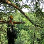 Erin directing braking, Treetop Canopy Tour 7-18-12