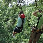 away you go, Treetop Canopy Tour 7-18-12