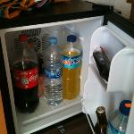 good sized fridge, hire for 2euros per day