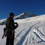 Oberhalb Meiringen: Rast im Aufstieg zum Wetterhorn