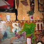 Wandmalereien im Restaurant