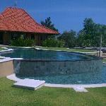 pool and 1 of the twin villas.