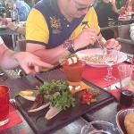 gaspacho et raviolis carbonara