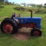 boys driving the tractor