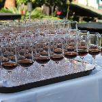 Madeira Wein Verkostung im Garten des Hotels