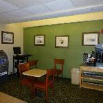 computer/coffee/tea area