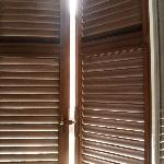 Outside Shutters with Double Glazed Windows to shut out the street