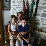 The Owner of the pension with neighbor's kids..