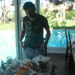 Breakfast beside the pool