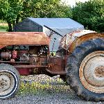 This tractor belonged to Mike's grandfather.
