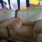 Yes, the common area sofas are really THAT dirty and sticky