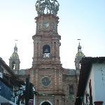Vista frontal de la Iglesia