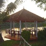 Dining area. Gazebo Right on River