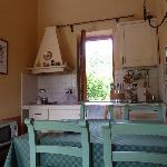 Kitchen area of Casa Rosa