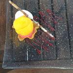 Mango raspberry and lemon sorbet